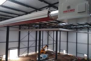 Générateurs d'air chaud + gaines radiantes à Fougerolles (2019)