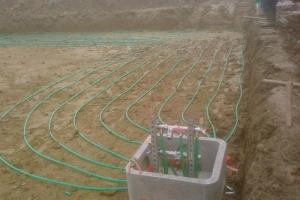 Géothermie horizontale à Pusey (2009)