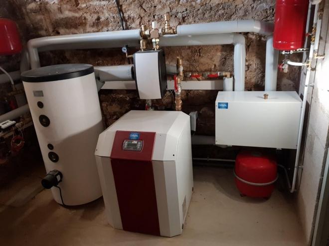 Géothermie pour chauffer une mairie et 4 appartements à Recologne (2019)