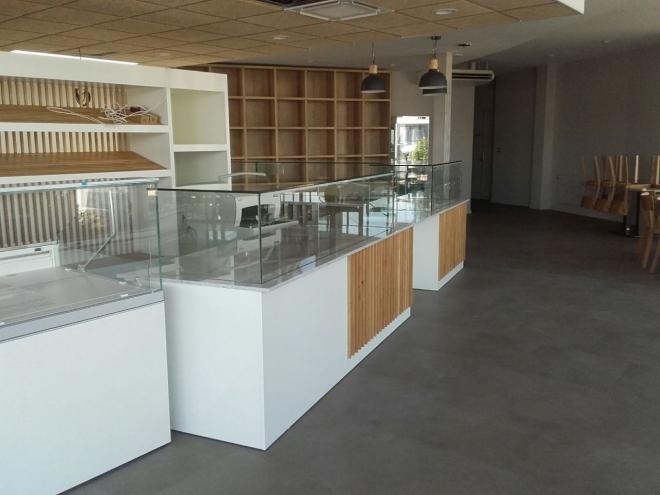 Boulangerie à Besançon : vitrines + clim (2019)