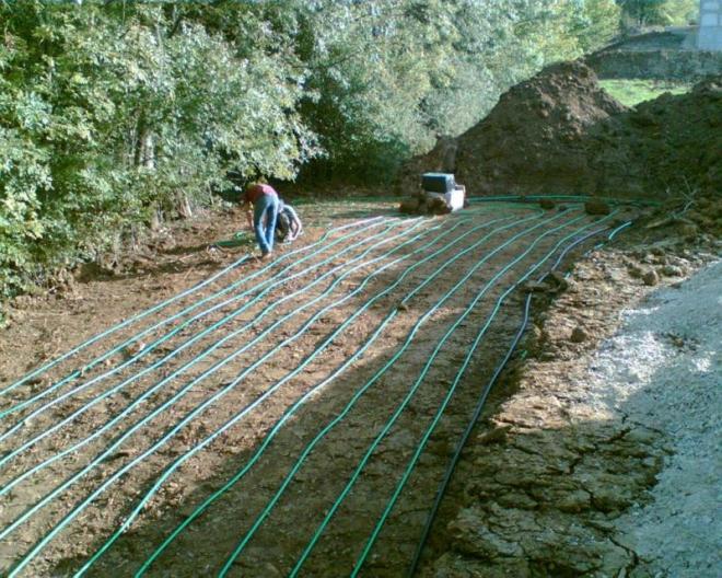 Géothermie horizontale à Navenne (2006)