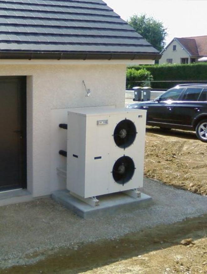 Aérothermie Air / Eau à Pusey (2008)